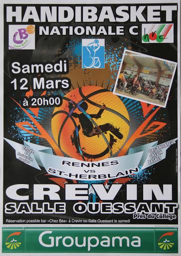 Championnat Nationale C – Rennes HRC vs Saint-Herblain HSBC